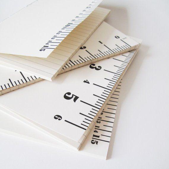 Ruler Notebook by baileydoesntbark on Etsy, $8.00