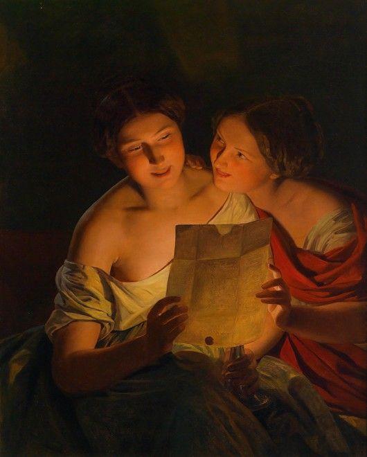 Bild:  Ferdinand Georg Waldmüller - Der Liebesbrief