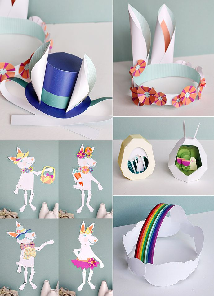 Easy Easter Fun With Bunny Paper Printables : handmadecharlotte --- Easter Paper Crafts