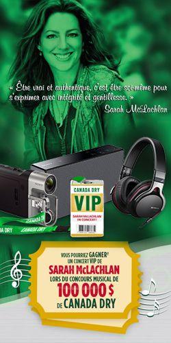 Gagnez un voyage VIP et des prix Sony. Fin le 31 aout.  http://rienquedugratuit.ca/concours/sarah-mclachlan-prix-sony/