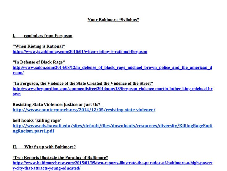 Your Baltimore Syllabus Readings On The Current Uprising In And Its Context