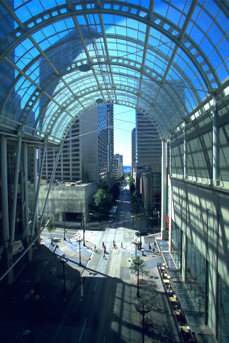 seattle convention center's glass canopy