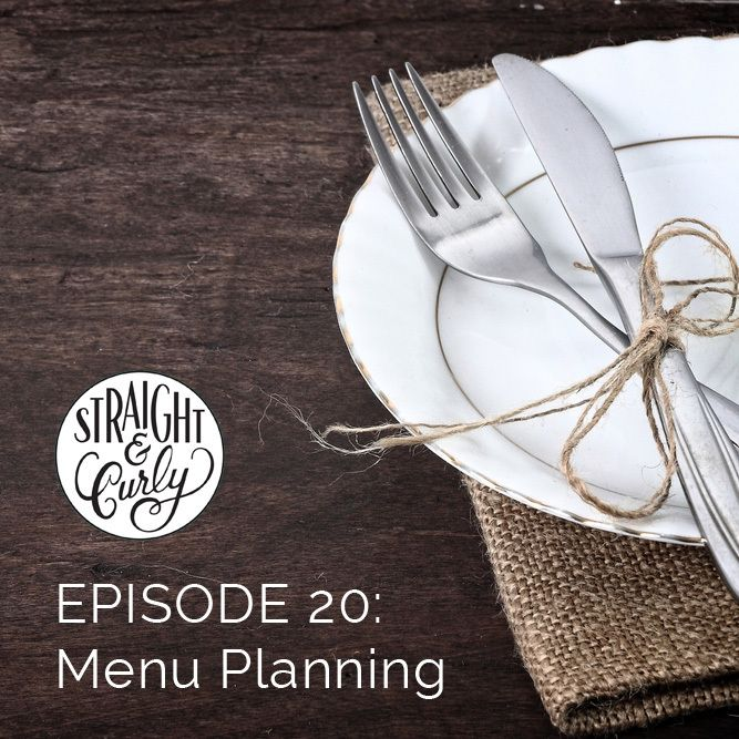 My relationship with menu planning is like my relationship with to-do lists - complicated.  In theory, the whole concept should greatly appeal to me. It allows me to be organised when it comes to doing the weekly shop and also to outsource the making of four meals a week. In reality ... well you'll have to listen in :)