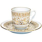 Turkish Coffee Cup with Saucer (Porcelain) - Bridal