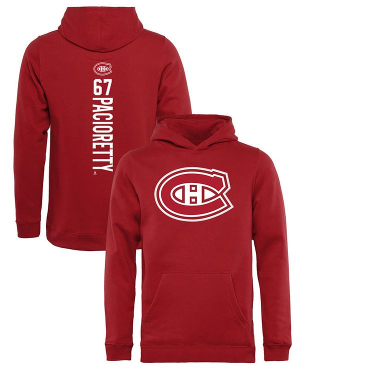 Max Pacioretty Montreal Canadiens Fanatics Branded Youth Backer Pullover Hoodie - Red