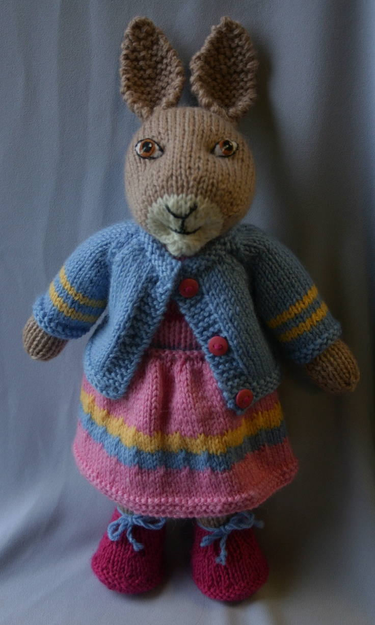 Knitting Stuffed Animals For Beginners : Best images about knitting animals bunny s rabbits