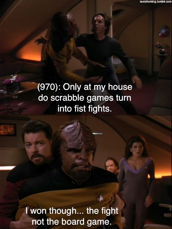 The Morning After Texts of Star Trek: The Next Generation Are Hilarious #Humor #Funny