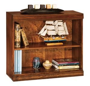 Amish Office Furniture Benton Bookcase with One Shelf