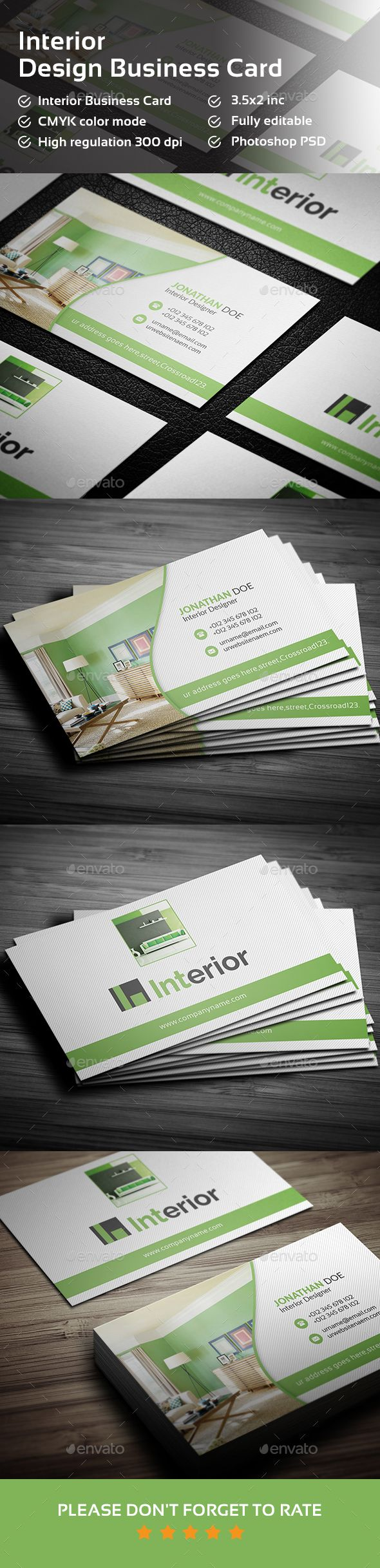 Interior Design Business Card Template PSD. Download here: http://graphicriver.net/item/interior-design-business-card-/15118104?ref=ksioks