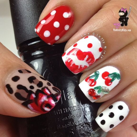 Pin Up Nail Art