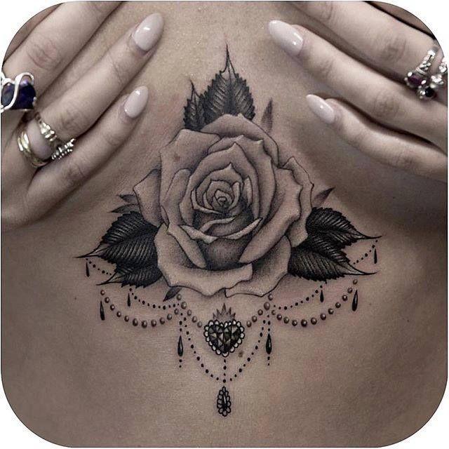 best 25 tattoo under chest ideas on pinterest lower
