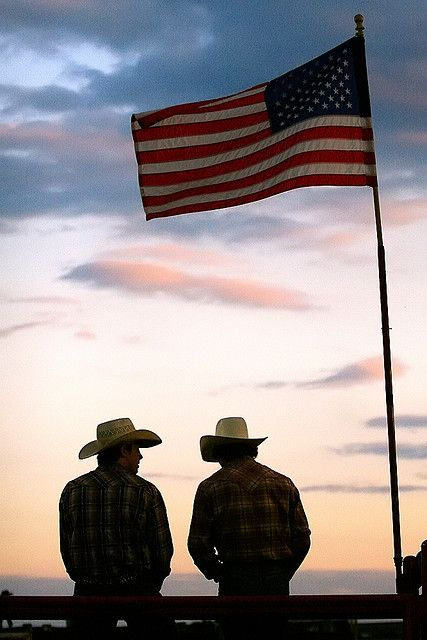 The two things I love the most in this picture, country boys and the good ol American flag. Love my country