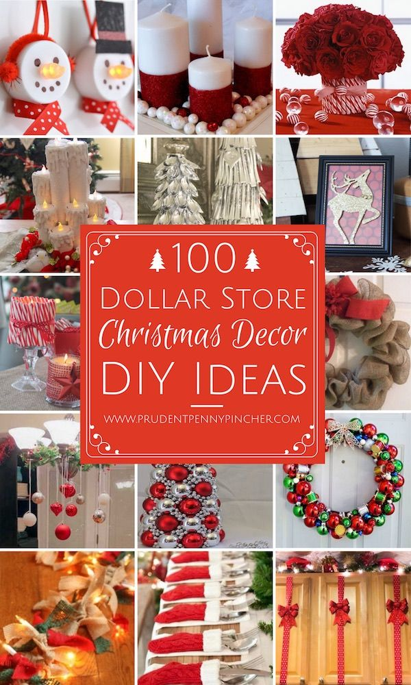 100 DIY Dollar Store Christmas Decor Ideas Dollar store