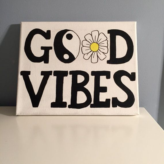 Good Vibes Canvas by Biancreations on Etsy