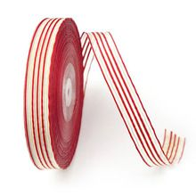 2015 Dress Decoration Red White Stripe Ribbon 15MM