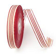 2015 Dress Decoration Red White Stripe Ribbon 15MM