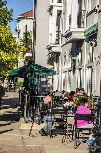 Big Starbucks in the West Village. West Village Dallas in Uptown Dallas #WestVillageDallas