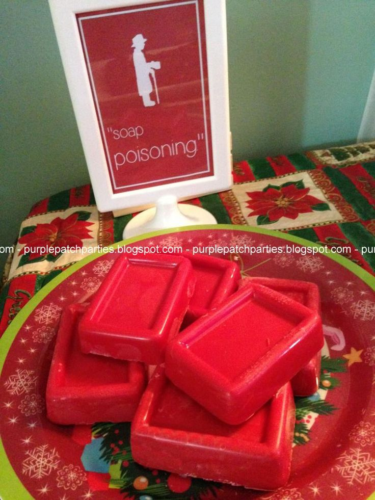 the purple patch a christmas story themed christmas party chocolate soap - A Christmas Story Decorations
