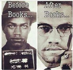 Image result for Malcolm x before books after books