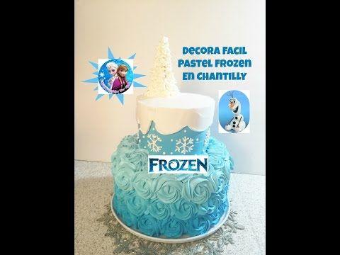 Cómo decorar una tarta de Frozen ¡Muy fácil y rápida!