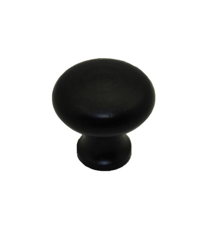 Meubelknop ijzer zwart