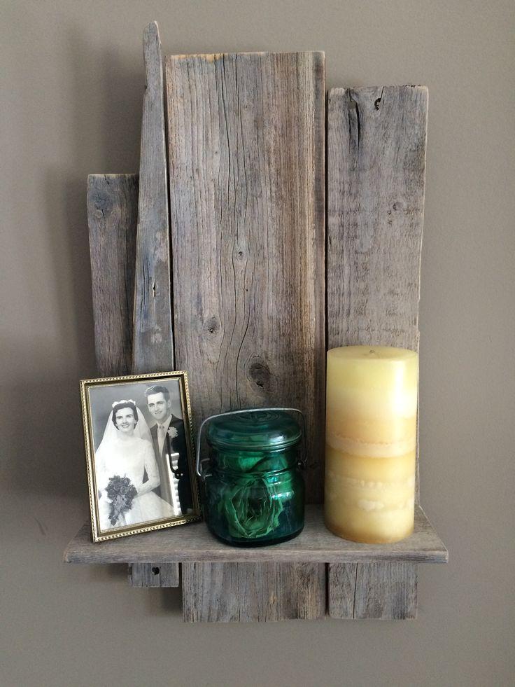 Reclaimed Wood Shelf white wash $30 www.fedorabikini.com