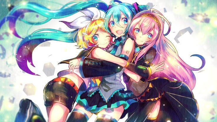 Vocaloid - Hatsune Miku, Kagamine Rin and Megurine Luka