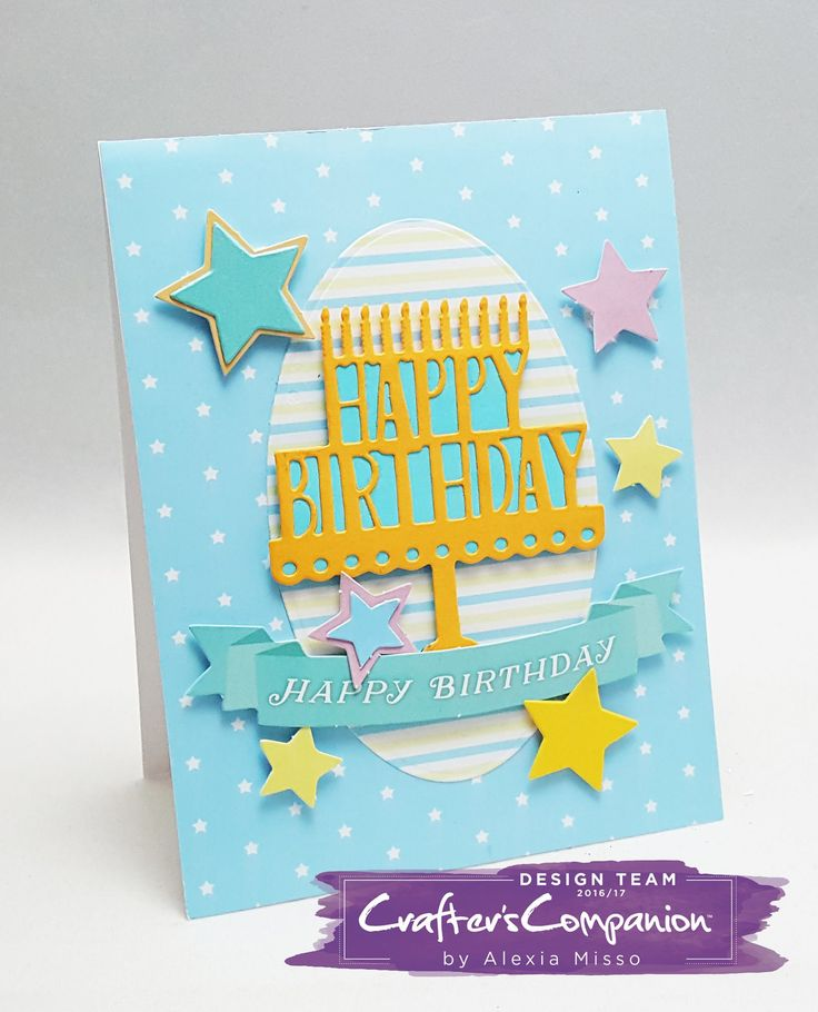 Created by Alexia Misso using the #BirthdayParty collection by Sara Davies for #crafterscompanion