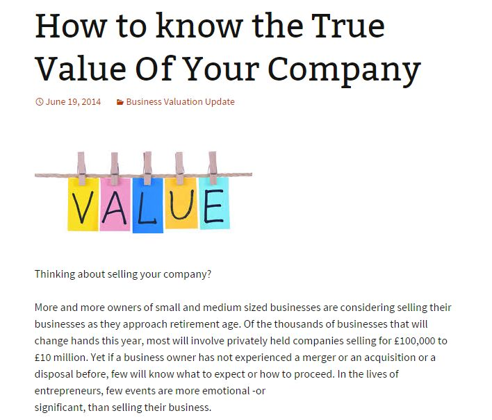 Best Business Valuation Images On
