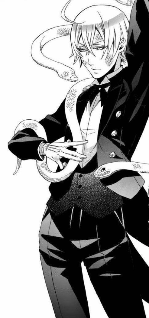 Image de black butler and snake