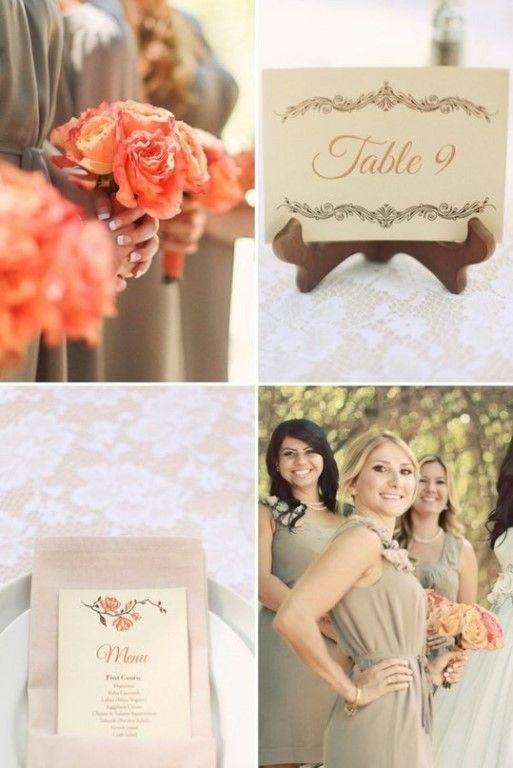Винтажная персиковая свадьба