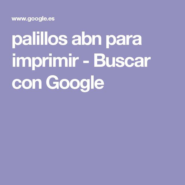 palillos abn para imprimir - Buscar con Google