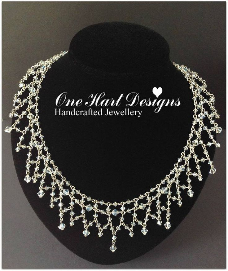 Handmade by One Hart Designs Handcrafted Jewellery This stunning necklace has been handcrafted and includes 300 Swarovski Crystals!