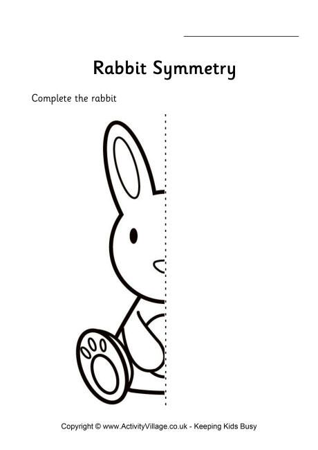 Rabbit symmetry worksheet