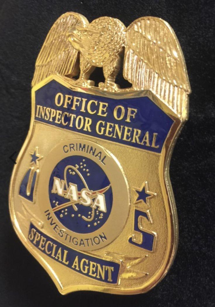 Placa Agente Federal NASA Agente federal, Federal, Nasa