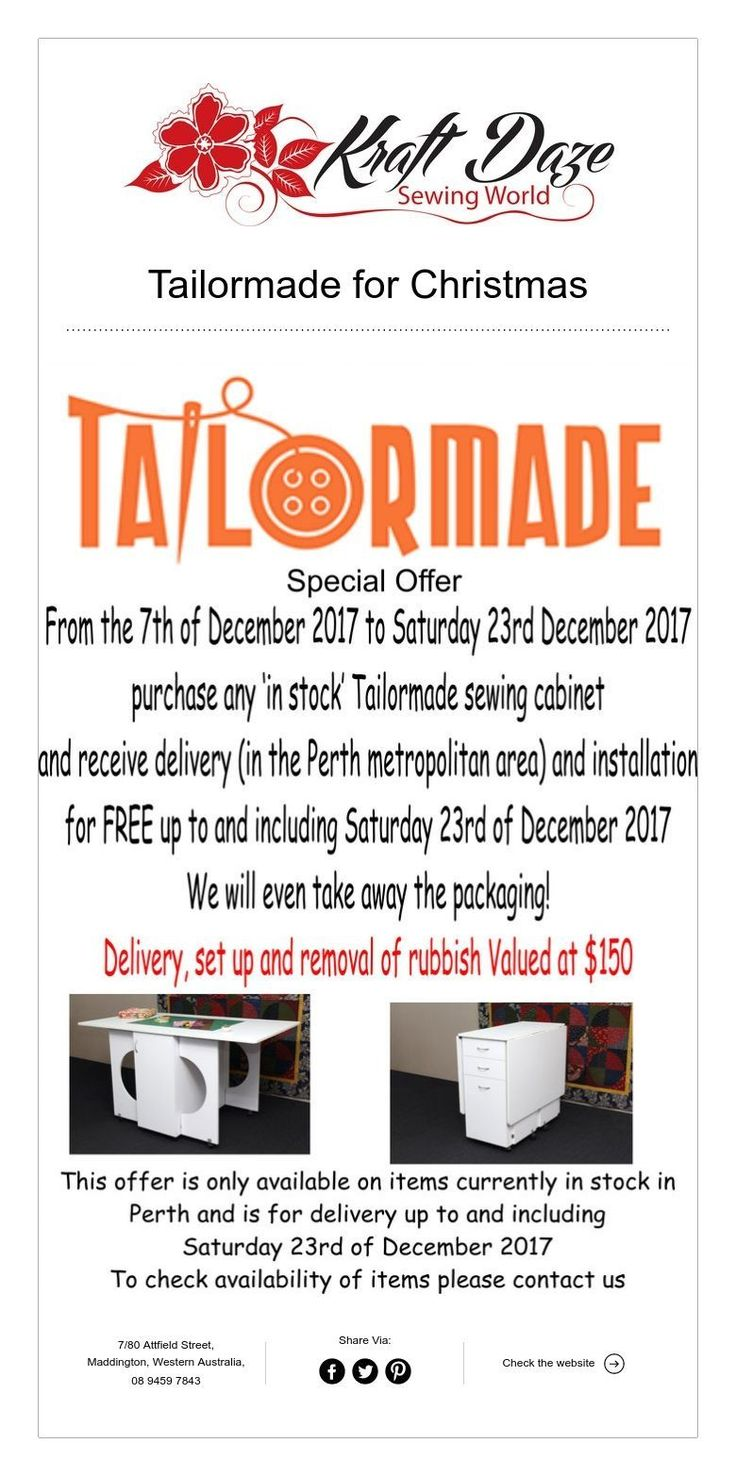 Tailormade for Christmas