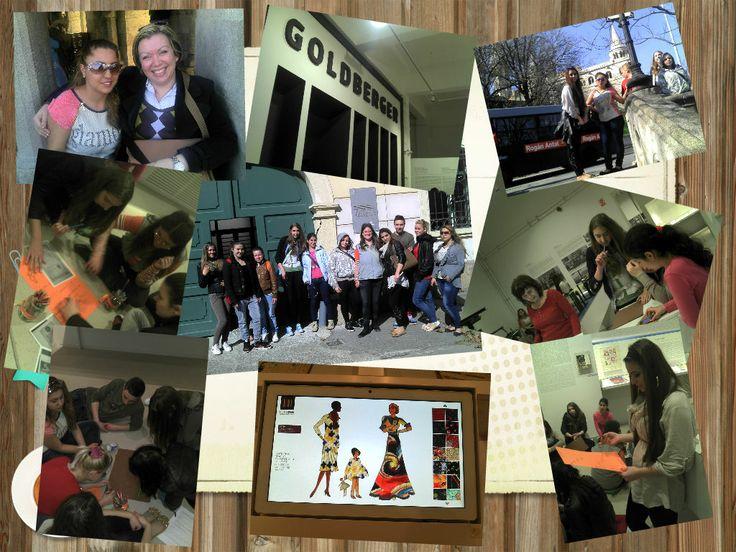 Ma a projektünk legjobban várt napja érkezett el: a tanulmányi kirándulás. Múzeumpedagógiai foglalkozáson vehettünk részt a Golderberger Textil Múzeumban, ahol a divattal és a ruhák elkészítési módjaival különböző játékos feladatokon keresztül. A napunkról hamarosan videó készül.