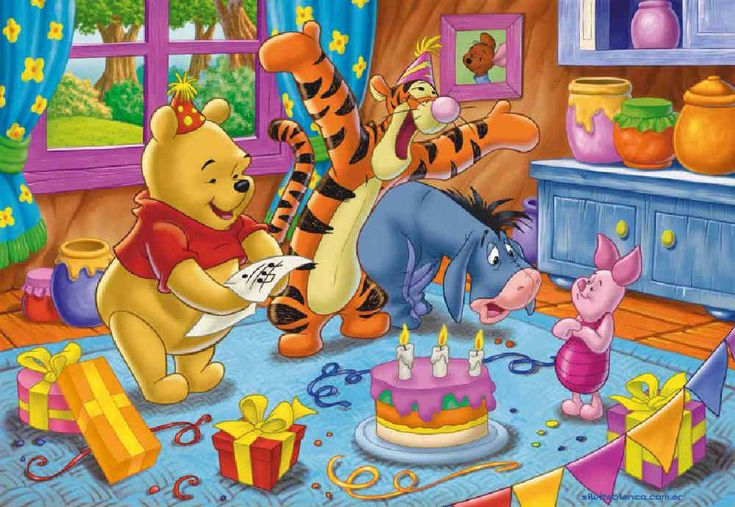 Happy Birthday Winnie The Pooh Tigger Piglet Eeyore
