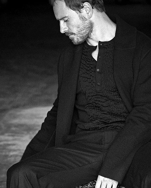"• ""a wise woman wishes to be no one's enemy; a wise woman refuses to be anyone's victim"" ----- Maya Angelou • Be kind, be classy, be compassionate and thoughtful...but do not take shit from anybody. •  for British GQ, Dec 2016 Shot by @matthewbrookesphoto #michaelfassbender #gqmagazine"