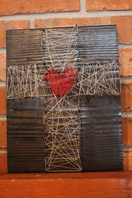 Small Things: Lenten Nail and String Art -- Spring Break Activity
