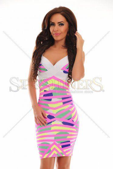 Rochie Mexton Fashionable Love Pink
