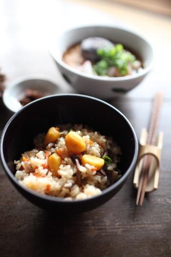 Japanese chestnut rice