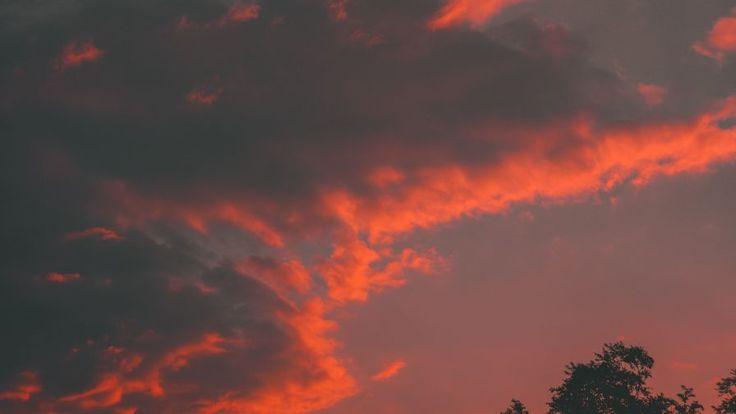Orange sunset HD Wallpaper Orange sunset HD Wallpaper