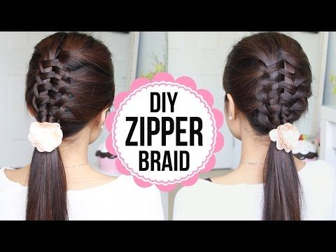 Zipper Braid Hair Tutorial (2 Ways) | Braided Hairstyles - YouTubeBraid Hairstyles, Braids, braids tutorial, braids for short hair, braids for short hair tutorial, braids for long hair, braids for long hair tutorials...