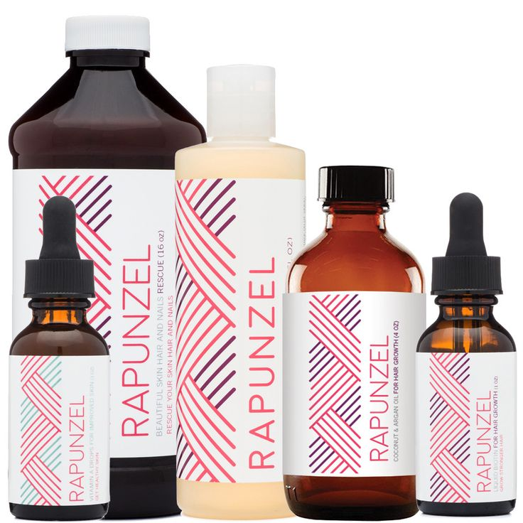 Starter Package For Better Skin, Hair and Nails - Includes 1 each of Rapunzel Liquid Biotin and Rapunzel Liquid Vitamin A - Also included is our best selling Rapunzel Hair Growth Shampoo - Included in