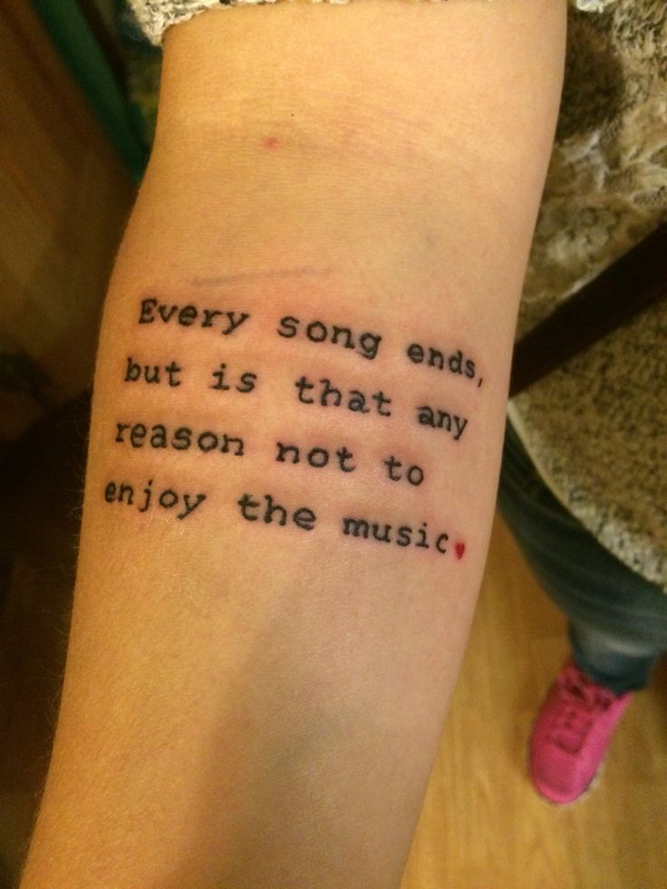 One tree hill music quote tattoo