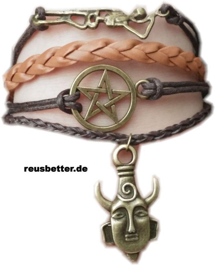 Supernatural | Deans Schutzamulett | Lederarmband | Pentagramm | Shambala | Neu
