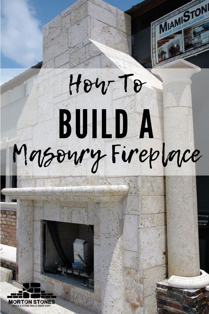 How To Build A Masonry Fireplace Stone Veneer Fireplace Build A