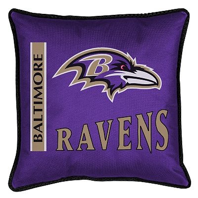baltimore ravens throw bed pillow 18 x 18