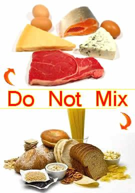 Hay Diet - Do not mix carbs with proteins